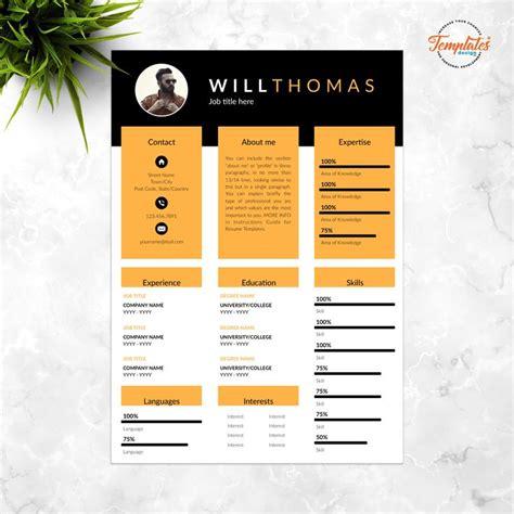 creative modern resume template  photo