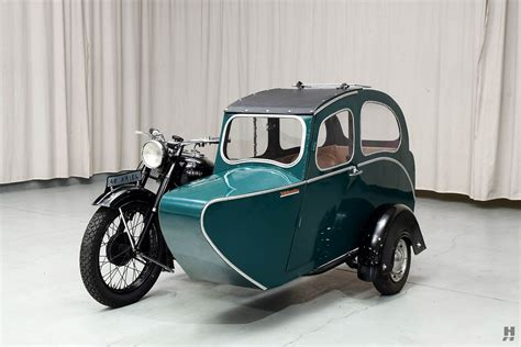 1948 Ariel Square Four Motorcycle With Sidecar