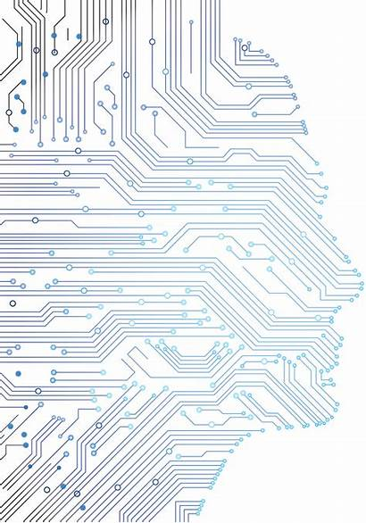 Circuit Board Vector Gaming Face Abstract Border