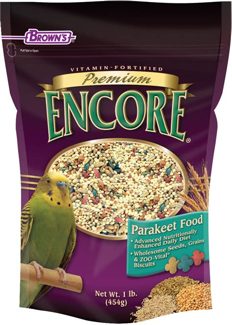 premium cuisines encore premium parakeet food f m brown 39 s