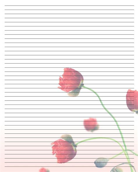 valentine letter writing stationery printable writing