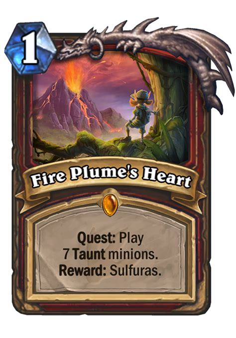 fire plumes heart hearthstone card