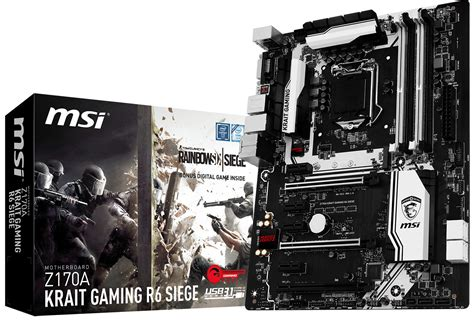 the siege msi announces z170a krait gaming r6 siege techpowerup forums