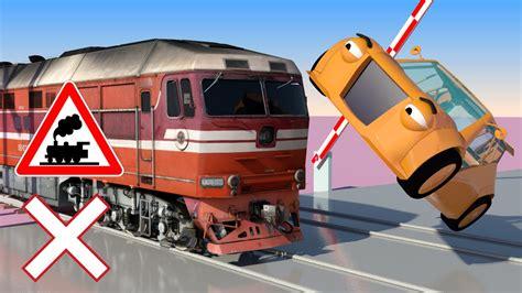 Train, Cars And Railroad