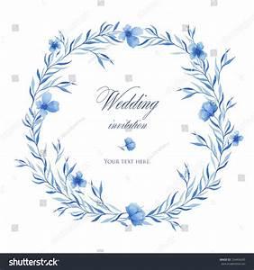 beautiful blue watercolor flowers wedding invitation stock With beautiful wedding invitation watercolor flowers