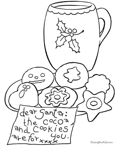 Cookies Coloring Page   Coloring Home