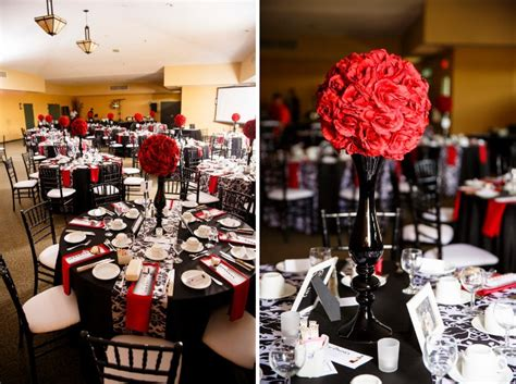 matthew sarah s red black and white wedding wedding