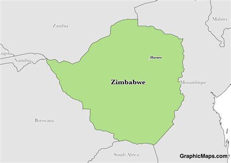 zimbabwe graphicmapscom