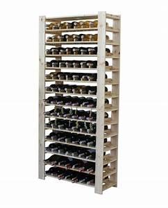 Casier à Bouteilles : casier a vin en bois massif naturel 91 bouteilles ~ Teatrodelosmanantiales.com Idées de Décoration