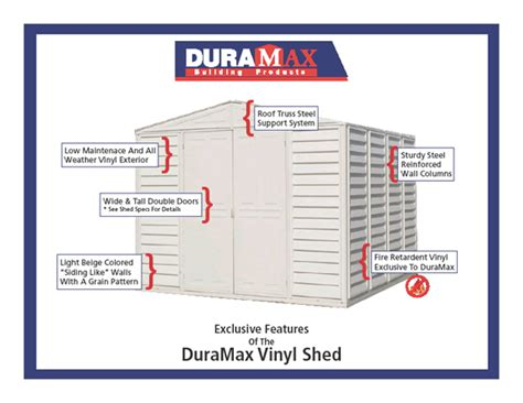 Duramax Sheds South Africa by Vinyl Storage Sheds Vinyl Sheds The Yardmate Vinyl Shed