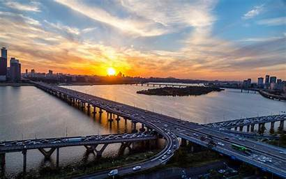 Korea Seoul Han River South Desktop Bridge