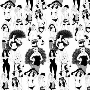 Burlesque Half-Scale Wallpaper, Dupenny Wallpaper, Buy ...