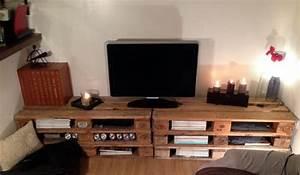Grand Meuble Tv : meuble en palette le guide ultime mis jour 2017 ~ Teatrodelosmanantiales.com Idées de Décoration