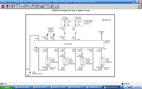 wiring diagrams   radio wires