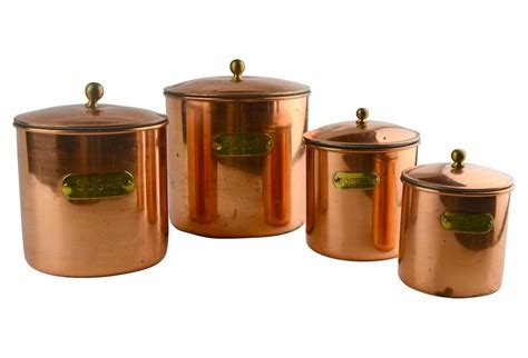 copper kitchen canister sets copper kitchen canisters set of 4