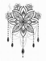 Tattoo Coloring Skye Chandelier Vanessa sketch template