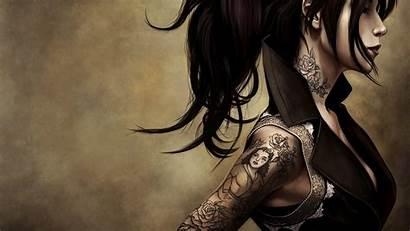 Tattoos Wallpapers Tattoo Anime Tattooed Dark Goth