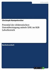 Potential Der Elektronischen Daten U00fcbertragung Mittels Xml