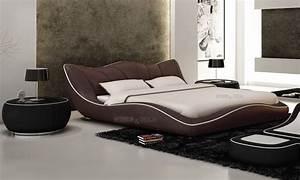 Lit En Cuir : lit lit en cuir lits en cuir lit cuir v ritable lit et matelas ~ Teatrodelosmanantiales.com Idées de Décoration