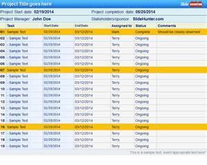 Multi Project Gantt Chart Template Free Project Plan Powerpoint Template