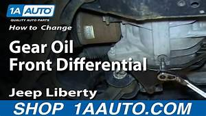 How To Service Change Gear Oil Front Differential 2002-07 Jeep Liberty