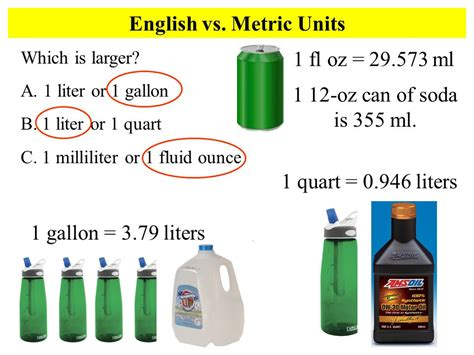 1 us gallon in liters volume ppt