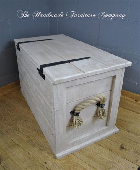 linen chest cuisine shabby chic vintage style storage chest distressed to