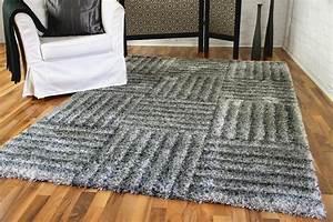 Shaggy Teppich Grau Silber : hochflor langflor shaggy teppich lambada silber karo teppiche hochflor langflor teppiche schwarz ~ Bigdaddyawards.com Haus und Dekorationen