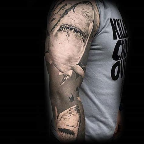 ocean sleeve tattoos  men underwater ink design ideas