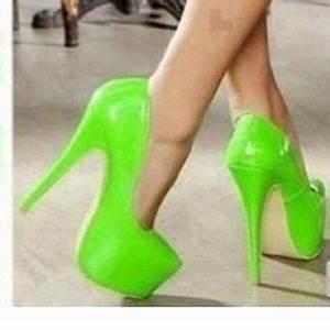 1000 ideas about Green High Heels on Pinterest