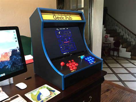 build  retropie bartop arcade cabinet  geek pub