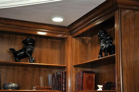Walnut crown molding detail   Traditional   Home Office