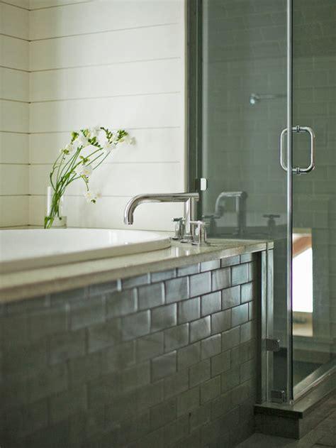 tiled tub apron home design ideas pictures remodel  decor