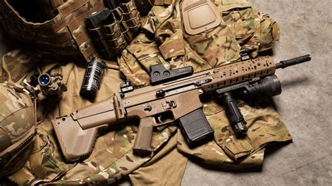 Fn Scar Assault Rifle 1920 X 1080 Hdtv 1080p Wallpaper