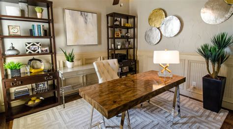 Sophisticated Mid-century Modern Office Touches Of