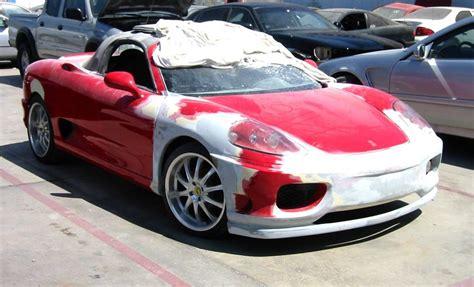 ferrari  spider kit car built    toyota