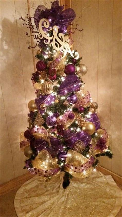 ideas  purple christmas tree  pinterest