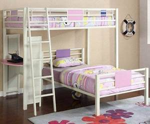 Gavin Navy Blue Twin Loft Bed With Desk Chest