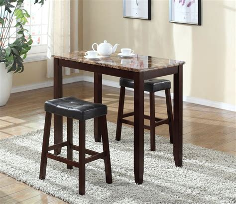 pub table set  piece bar stools dining kitchen furniture