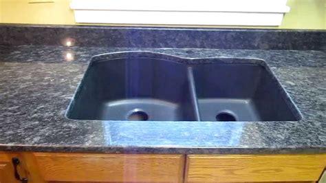 steel grey custom granite countertop installation