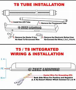 T5  T8 White Led Linear Tube Light Bulb 2ft  3ft  4ft