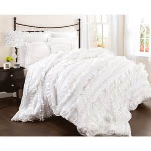 lush decor belle 4 piece comforter set queen white better