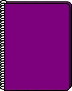Purple Notebook Clip Art at Clker.com - vector clip art ...