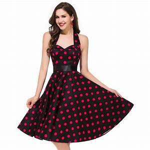 polka dot women summer dresses 50s 60s fashion retro With robe été habillée