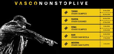 vasco date concerto vascononstop live 2018 info date e tickets ultimora news