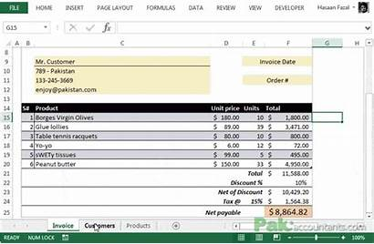 Database Client Template Invoice Excel Templates Customer