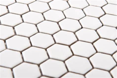 alameda snow white 1 inch hexagon tile mosaics tigard