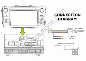 Cable To Connect Rear View Camera In Toyota Touch Scion Bespoke Subaru Sd Navi 712096154382
