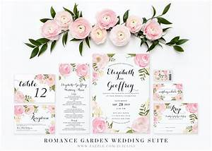 Chic flower wedding invitations pink flower wedding for Wedding invitation designs fuchsia pink