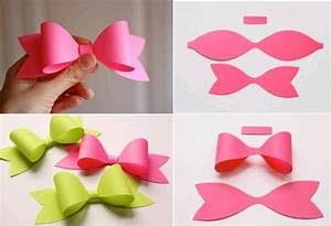 How to make paper craft bow tie step by diy tutorial